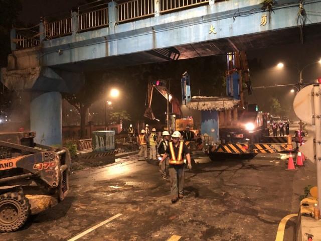 三峽大勇路橋拆除