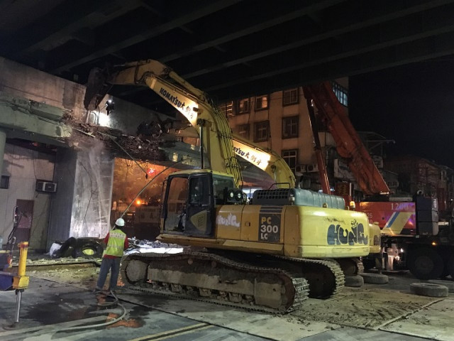 重陽橋下橋中橋拆除