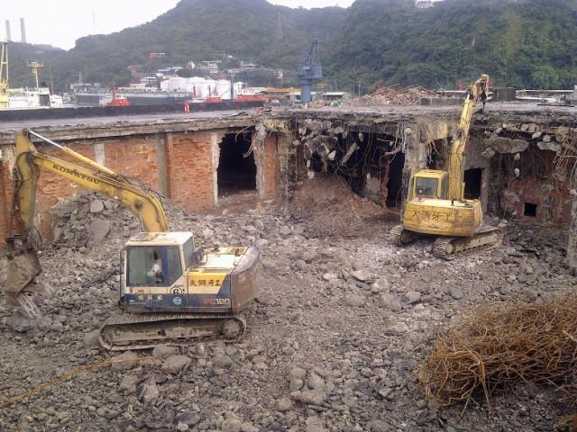基隆西岸碼頭冷凍廠拆除