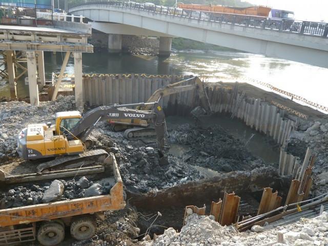 台北市中山橋拆除