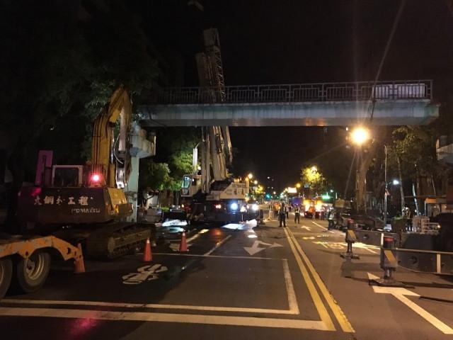 木柵路天橋拆除