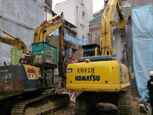 中山北路二段建物拆除