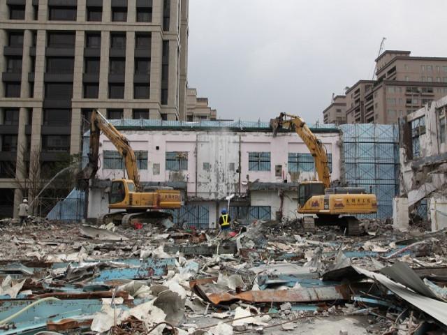 士林歐洲學校拆除工程