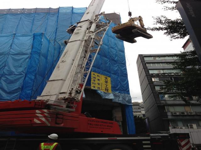 敦化南路9層樓建物拆除