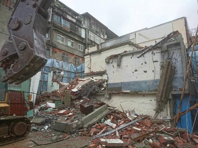 三重永福街舊屋拆除