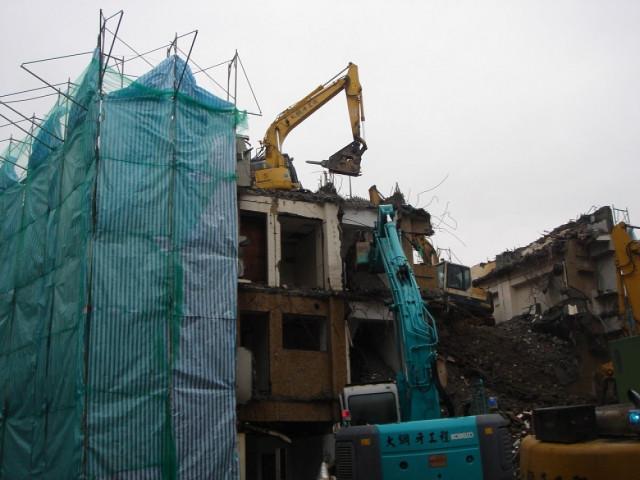 中山北路六段巷內建物拆除