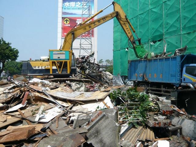 庫倫街建物拆除
