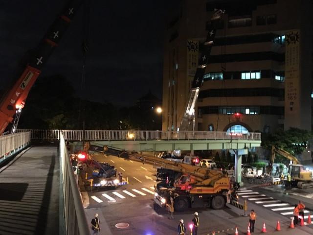 南海路重慶南路口天橋拆除