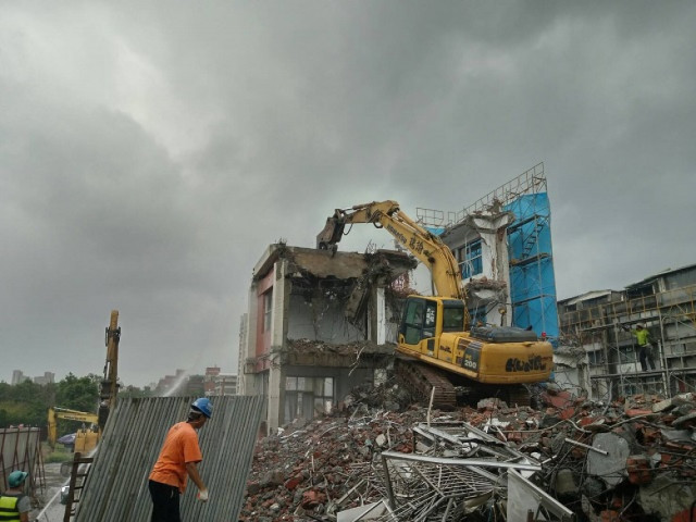 台北市廣慈園區建物拆除