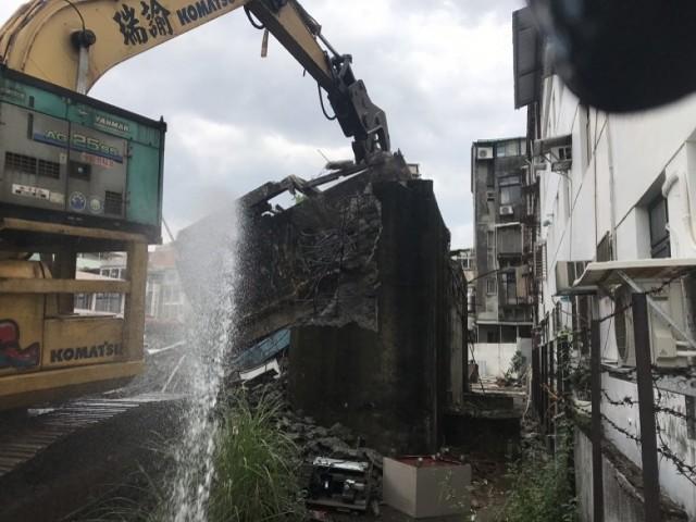 淡水自來水廠拆除