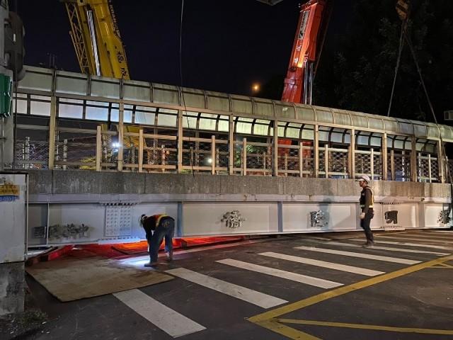 泰山黎明路橋拆除