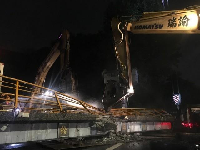 板橋中正路橋拆除