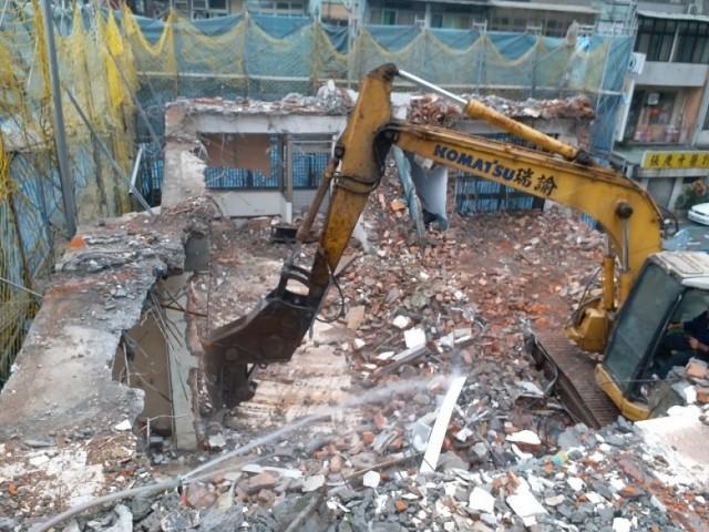 大安區復興南路二段四層舊屋拆除