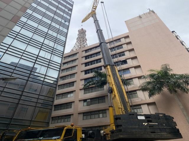 台哥大中和機房88米鐵塔拆除